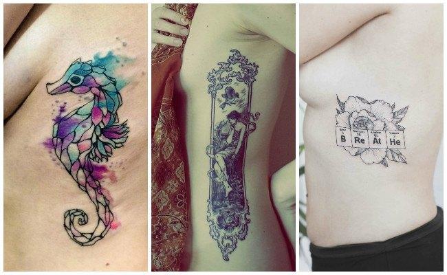 Tatuajes de golondrinas en las costillas