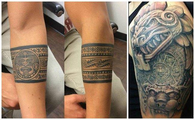 Tatuajes de grecas aztecas