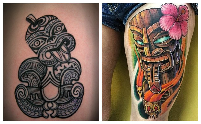 Tatuajes para mujer hawaianos