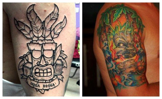 Tatuajes hawainos en la pierna