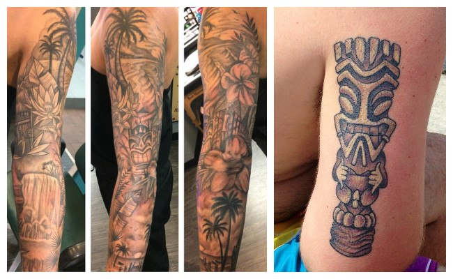 Tatuajes hawaianos con tribales