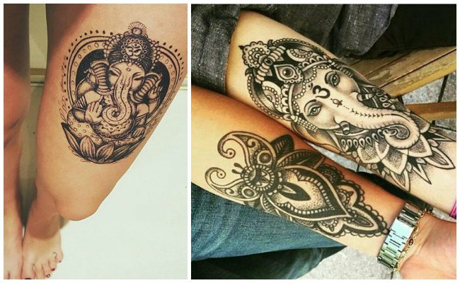 Tatuajes hindúes en el brazo