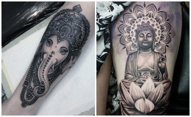 Tatuajes hindúes de ganesha