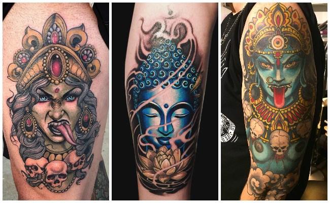 Tatuajes hindúes en el hombro