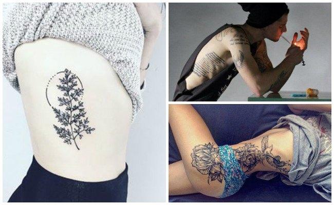 Tatuajes de infinito en las costillas