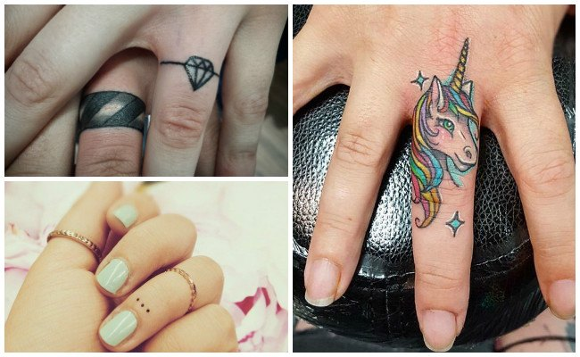 Initial finger tattoos