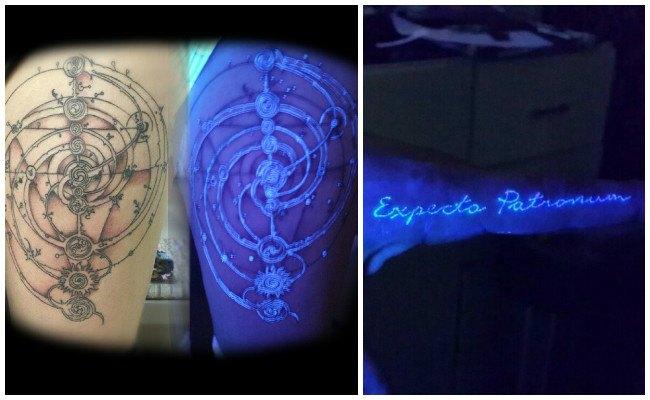 Tatuajes invisible fluorescente