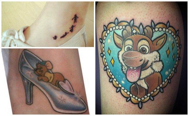 Tatuajes de letras de disney