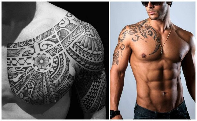 Tatuajes maoríes de una tortuga