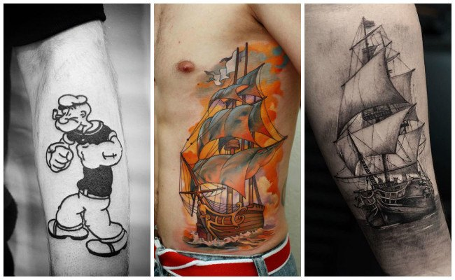 Tatuajes marineros para hombres