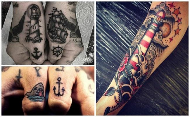 Tatuajes marinos con anclas