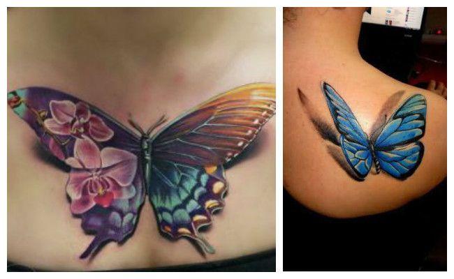 Tatuajes de mariposas en 3d