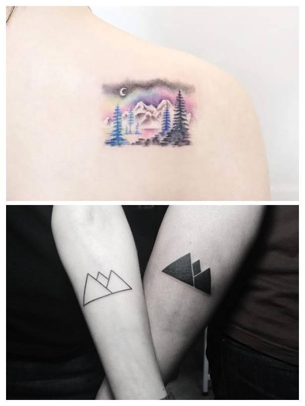 Tatuajes de montañas para hombres