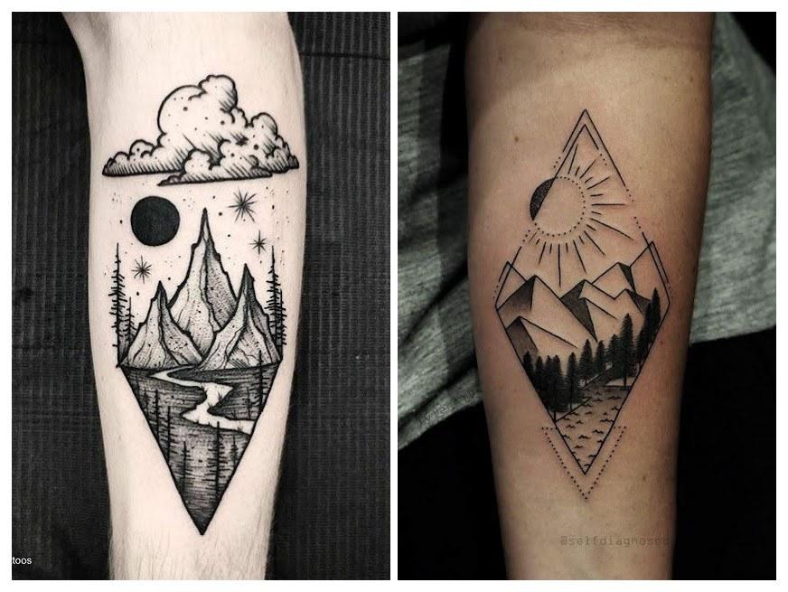 Tatuajes de montañas nevadas