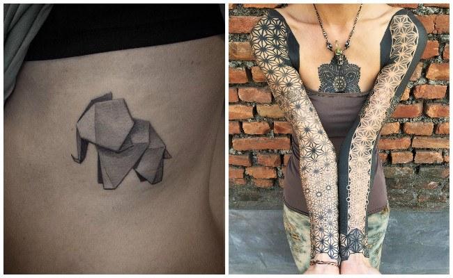 Tatuajes de motivos geométricos