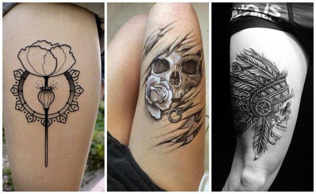 Tatuajes en el muslo para hombre