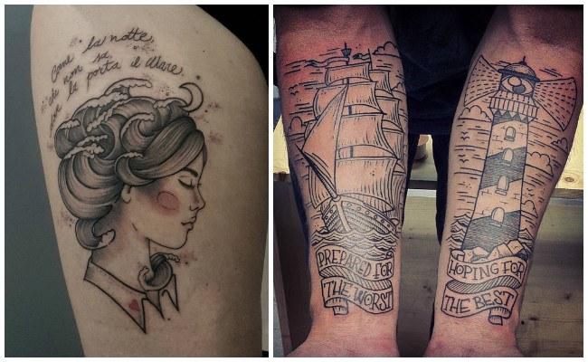 Tatuajes de nudos marineros