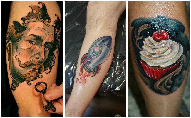 Tatuajes nueva escuela para hombres