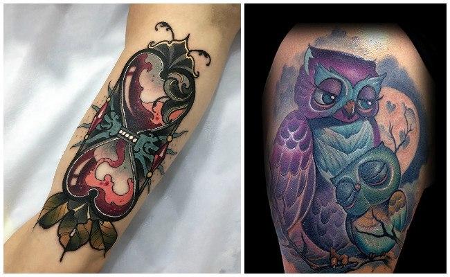 Tatuajes nueva escuela para mujeres