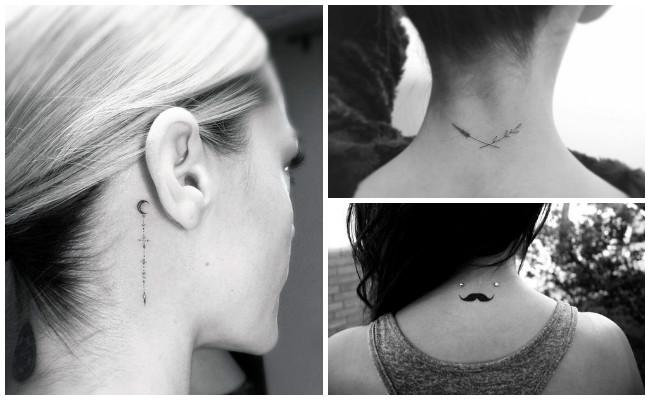 Tatuajes de ojos en el cuello