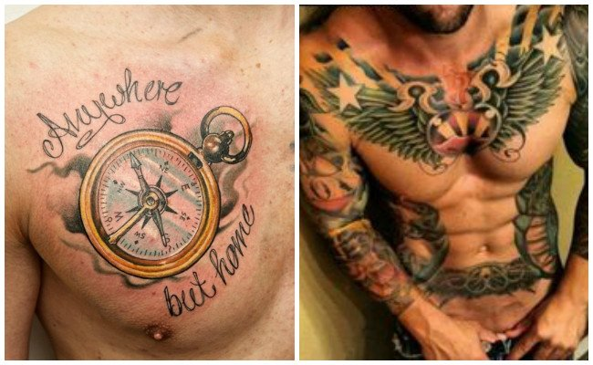 Tatuajes orientales en el pecho