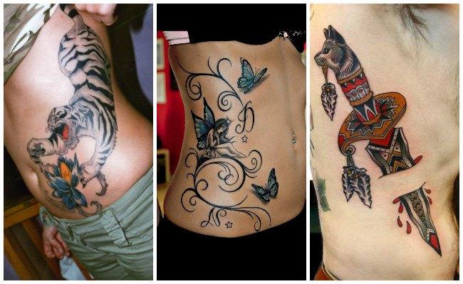 Tatuajes originales en las costillas