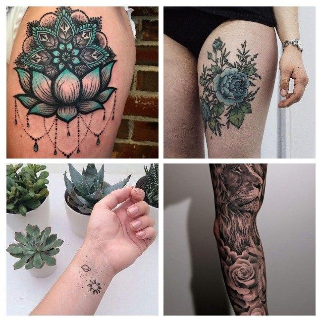 tatuajes para mujeres color