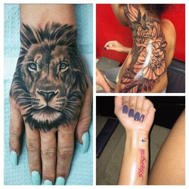 tatuajes para mujeres pierna arriba