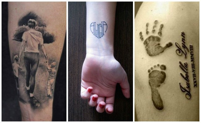 Tatuajes para nombres de hijos