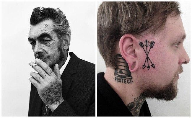 Tatuajes en los párpados de los ojos