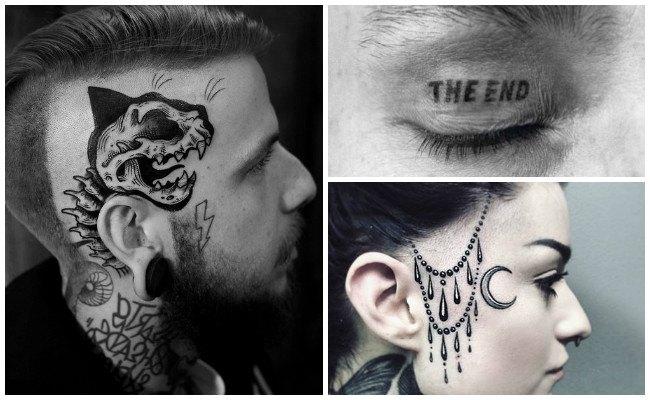 Tatuajes de pecas en la cara