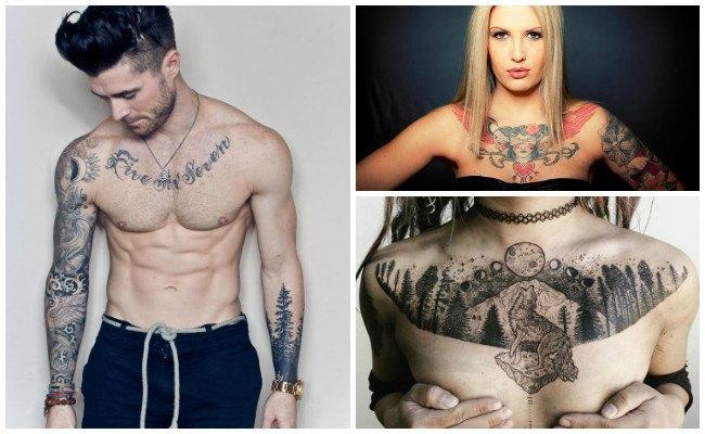 Tatuajes en el pecho para hombre