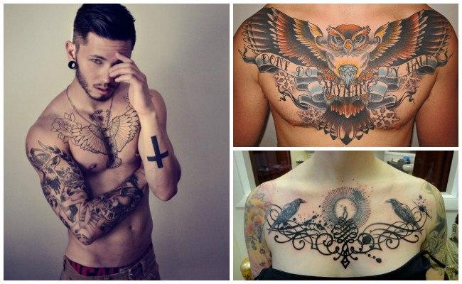Tatuajes en el pecho de la mujer