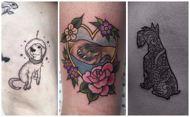 Tatuajes de perros bull terrier inglés