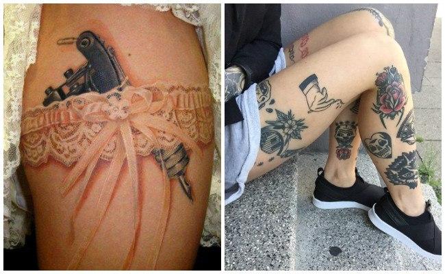 Tatuajes en la pierna entera