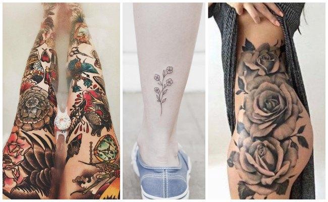 Tatuajes en la pierna femeninos