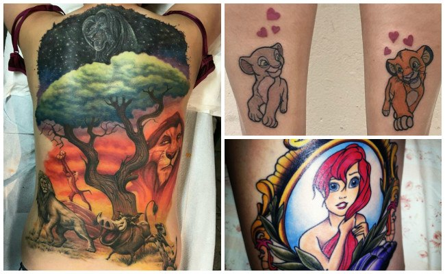 Tatuajes de príncipes de disney