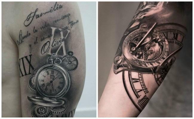 Tatuajes de relojes de arena y significado