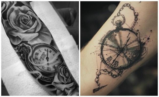 Tatuajes de relojes de bolsillos