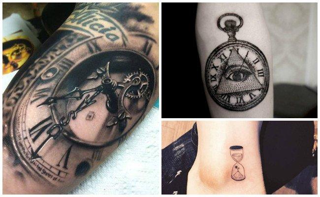 Tatuajes de relojes de números romanos