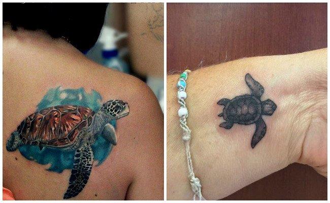 Tatuajes de simbolo de la tortuga
