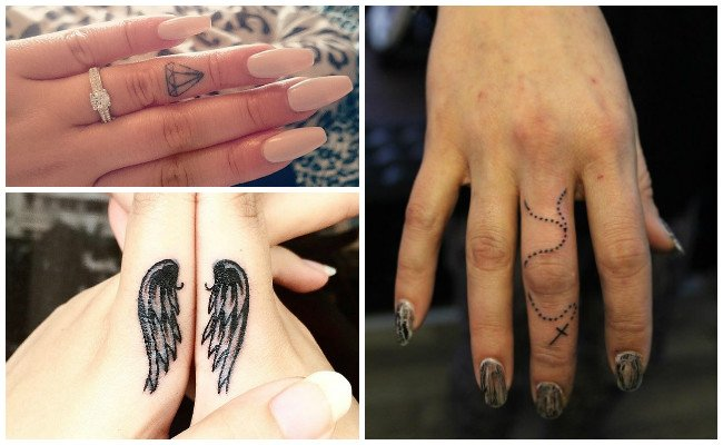 Scissors tattoos on fingers