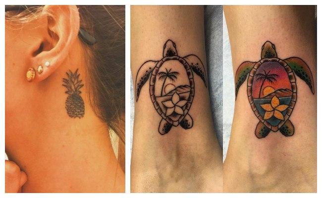 Tatuajes de tikis hawaianos