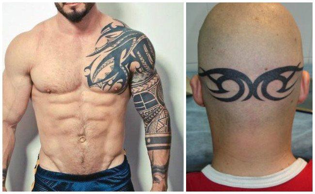 Tatuajes tribales en el antebrazo
