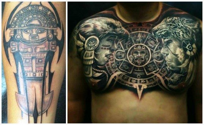 Tatuajes de tribales aztecas