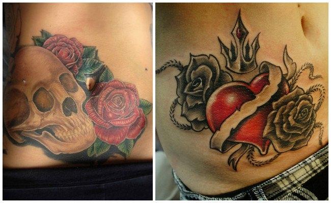 Tatuajes en el vientre para mujeres