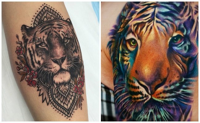 Tatuaje de tigre de bengala