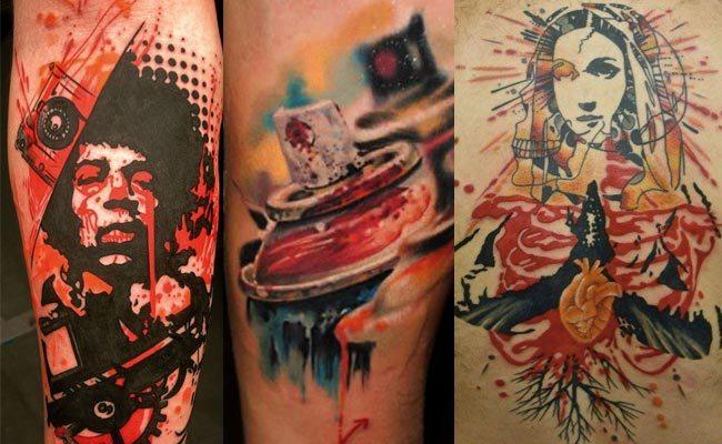 tipo de tatuaje stencil