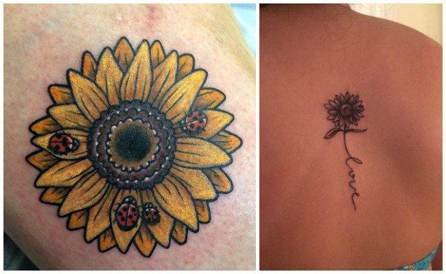 Ver tatuajes de girasoles