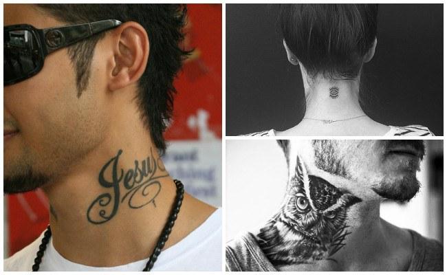Ver tatuajes en el cuello